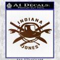 Indiana Jones Crest Decal Sticker Brown Vinyl 120x120