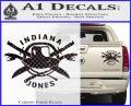 Indiana Jones Crest Decal Sticker Carbon Fiber Black 120x97