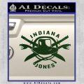 Indiana Jones Crest Decal Sticker Dark Green Vinyl 120x120