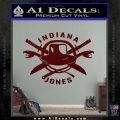 Indiana Jones Crest Decal Sticker Dark Red Vinyl 120x120