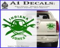 Indiana Jones Crest Decal Sticker Green Vinyl 120x97