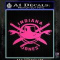 Indiana Jones Crest Decal Sticker Hot Pink Vinyl 120x120
