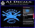 Indiana Jones Crest Decal Sticker Light Blue Vinyl 120x97