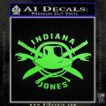Indiana Jones Crest Decal Sticker Lime Green Vinyl 120x120