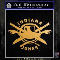 Indiana Jones Crest Decal Sticker Metallic Gold Vinyl Vinyl 120x120