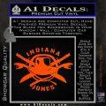 Indiana Jones Crest Decal Sticker Orange Vinyl Emblem 120x120