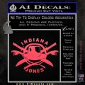 Indiana Jones Crest Decal Sticker Pink Vinyl Emblem 120x120