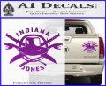 Indiana Jones Crest Decal Sticker Purple Vinyl 120x97