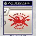 Indiana Jones Crest Decal Sticker Red Vinyl 120x120