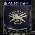 Indiana Jones Crest Decal Sticker Silver Vinyl 120x120