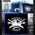 Indiana Jones Crest Decal Sticker White Emblem 120x120