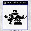 Indiana Jones Grab Decal Sticker Black Logo Emblem 120x120