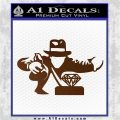 Indiana Jones Grab Decal Sticker Brown Vinyl 120x120