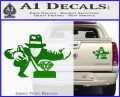 Indiana Jones Grab Decal Sticker Green Vinyl 120x97
