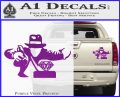 Indiana Jones Grab Decal Sticker Purple Vinyl 120x97