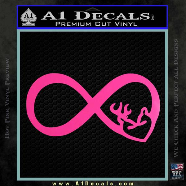 Infinity Hunting Love Browning Deer Decal Sticker A1 Decals