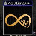 Infinity Hunting Love Browning Deer Decal Sticker Metallic Gold Vinyl Vinyl 120x120