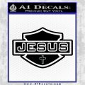 Jesus Shield Decal Sticker D2 Black Logo Emblem 120x120