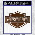 Jesus Shield Decal Sticker D2 Brown Vinyl 120x120