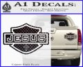 Jesus Shield Decal Sticker D2 Carbon Fiber Black 120x97