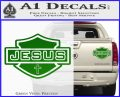 Jesus Shield Decal Sticker D2 Green Vinyl 120x97