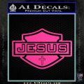 Jesus Shield Decal Sticker D2 Hot Pink Vinyl 120x120