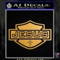 Jesus Shield Decal Sticker D2 Metallic Gold Vinyl Vinyl 120x120