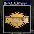 Jesus Shield Decal Sticker D2 Metallic Gold Vinyl Vinyl 120x120