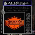 Jesus Shield Decal Sticker D2 Orange Vinyl Emblem 120x120