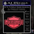 Jesus Shield Decal Sticker D2 Pink Vinyl Emblem 120x120