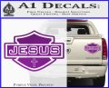 Jesus Shield Decal Sticker D2 Purple Vinyl 120x97