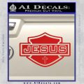 Jesus Shield Decal Sticker D2 Red Vinyl 120x120
