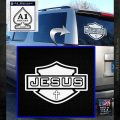 Jesus Shield Decal Sticker D2 White Emblem 120x120