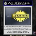 Jesus Shield Decal Sticker D2 Yelllow Vinyl 120x120