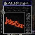 Judas Priest Decal Sticker Orange Vinyl Emblem 120x120