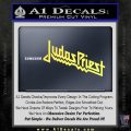 Judas Priest Decal Sticker Yelllow Vinyl 120x120