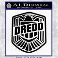 Judge Dredd Decal Sticker Badge D2 Black Logo Emblem 120x120