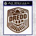 Judge Dredd Decal Sticker Badge D2 Brown Vinyl 120x120