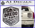 Judge Dredd Decal Sticker Badge D2 Carbon Fiber Black 120x97