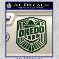 Judge Dredd Decal Sticker Badge D2 Dark Green Vinyl 120x120