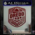 Judge Dredd Decal Sticker Badge D2 Dark Red Vinyl 120x120