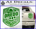 Judge Dredd Decal Sticker Badge D2 Green Vinyl 120x97