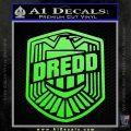 Judge Dredd Decal Sticker Badge D2 Lime Green Vinyl 120x120