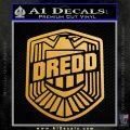 Judge Dredd Decal Sticker Badge D2 Metallic Gold Vinyl Vinyl 120x120