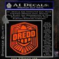 Judge Dredd Decal Sticker Badge D2 Orange Vinyl Emblem 120x120