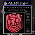 Judge Dredd Decal Sticker Badge D2 Pink Vinyl Emblem 120x120