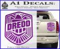 Judge Dredd Decal Sticker Badge D2 Purple Vinyl 120x97