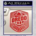 Judge Dredd Decal Sticker Badge D2 Red Vinyl 120x120