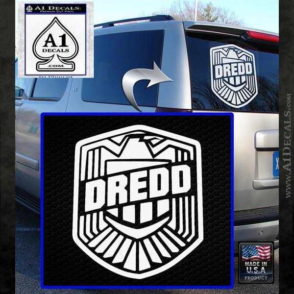 Judge dredd decal sticker badge d2 white emblem 120x120