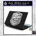Judge Dredd Decal Sticker Badge D2 White Vinyl Laptop 120x120
